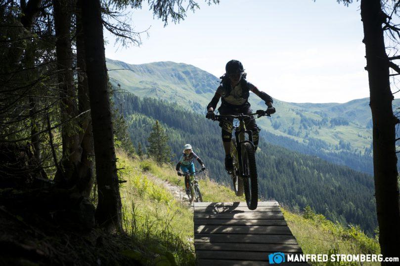 EMTB versus MTB im Bikepark in Saalbach-Hinterglemm -Womensbikecamp 2017
