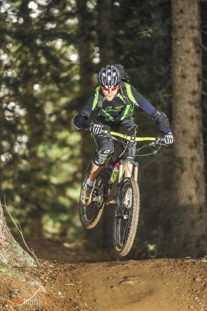 Mountainbiker Drop Lenzerheide