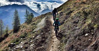 Die Harbe Line in Sölden begeistert als blau ausgewiesener Trail Bikefamilien und fortgeschrittene Biker – Trailcheck