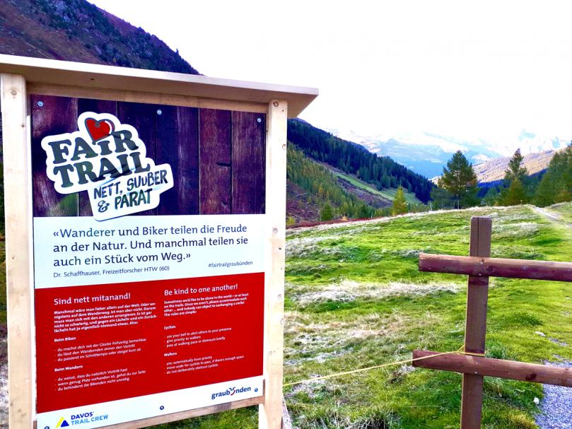 Davos hebt Trailsperrung wieder auf und setzt weiter auf Fair Trail im Sertig Tal