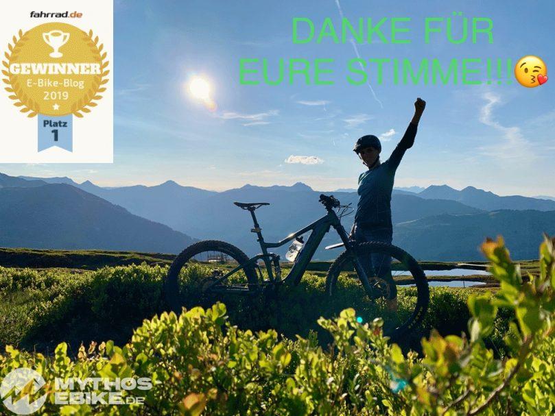 Der beliebteste E-Bike, e-Mountainbike und Pedelec Blog 2019 ist Mythos-eBike