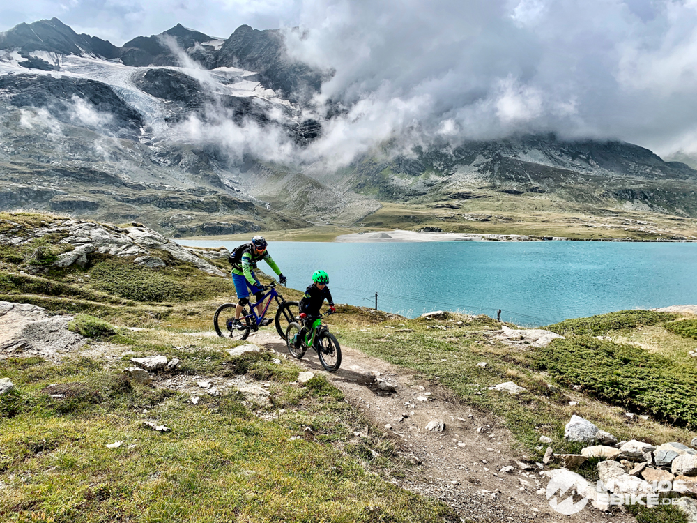 MTB Trail Bernina Express Lago Bianco