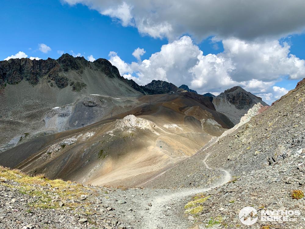 Trail Piz Nair zum Suvretta Pass Berge Engadin
