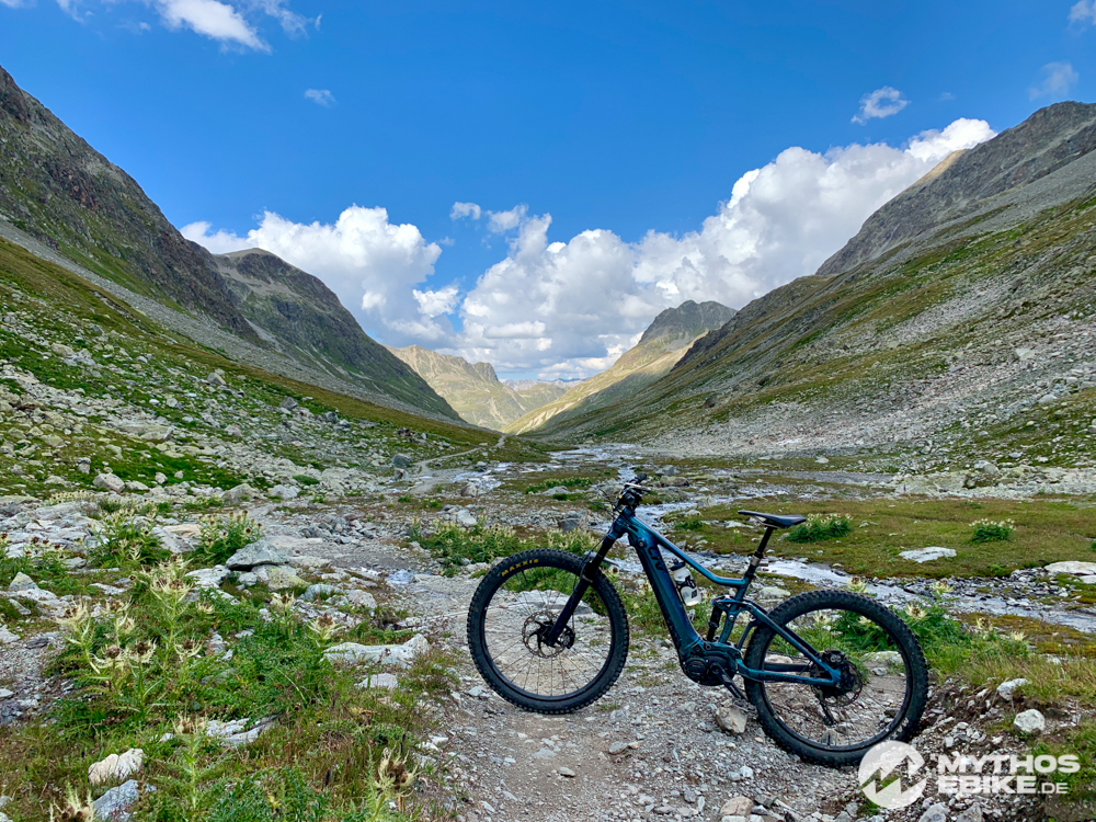 MTB Tour und Trail Val Sulvretta eMTB Mountainbikerin