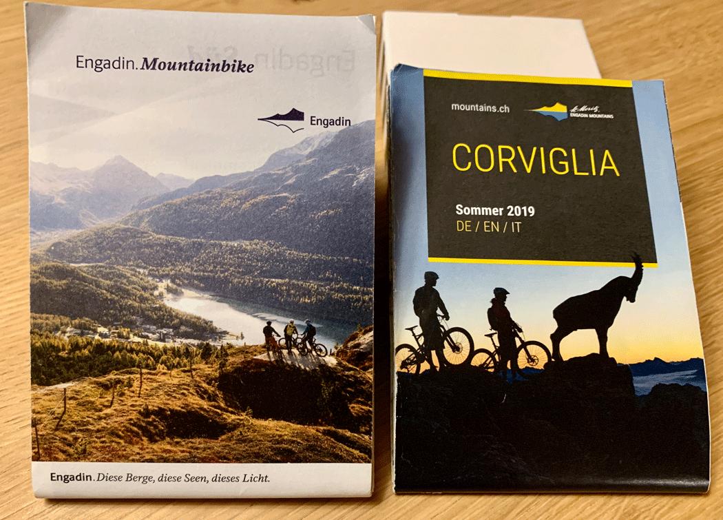 Mountainbike Karte Engadin Corviglia