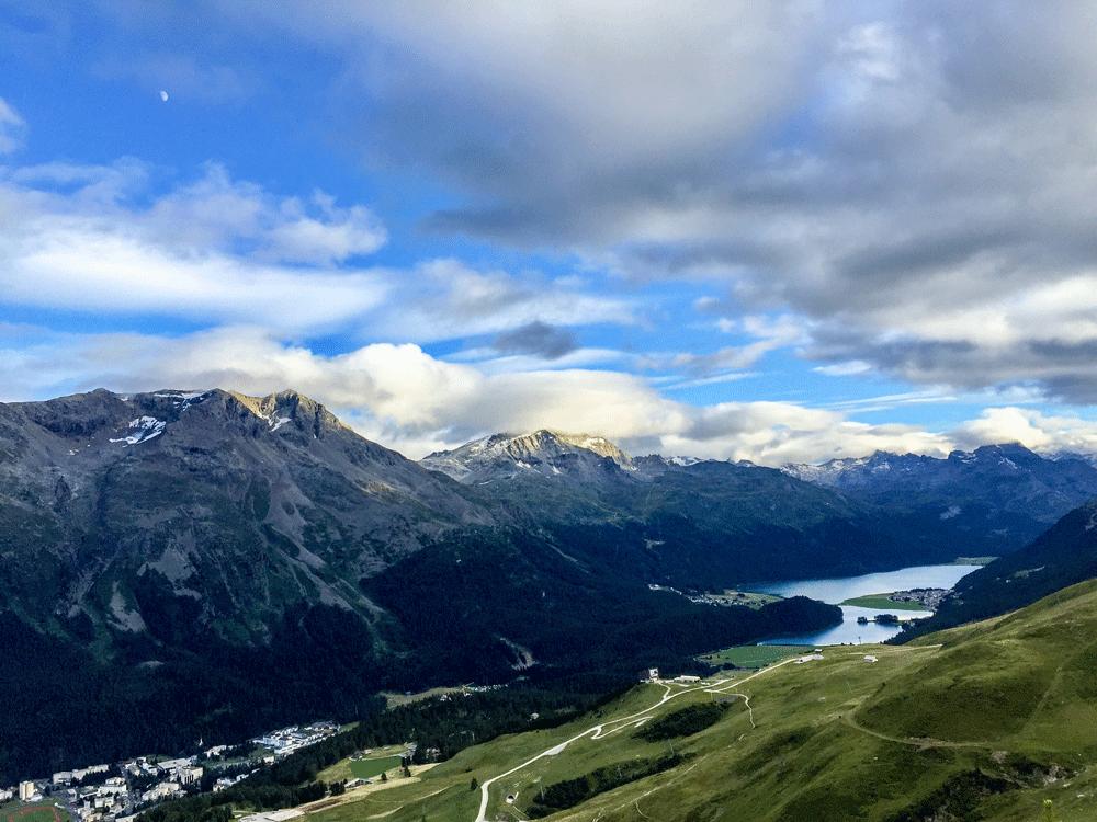 Blick von Alto Bar auf Sankt Moritz