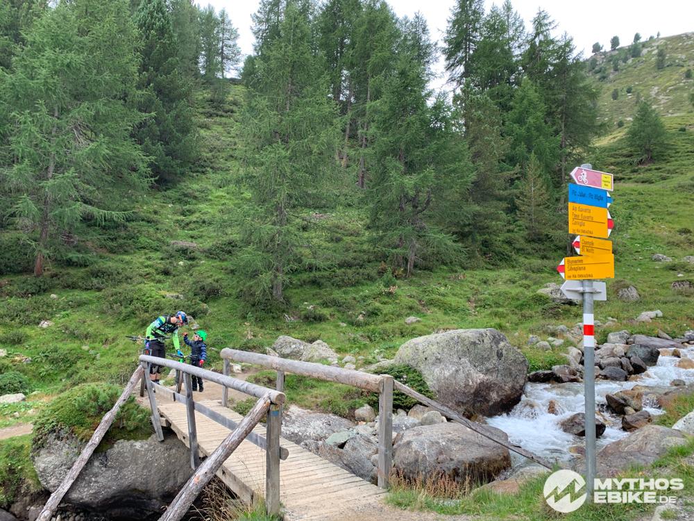 Trail in Richtung Foppettas Flow Trail