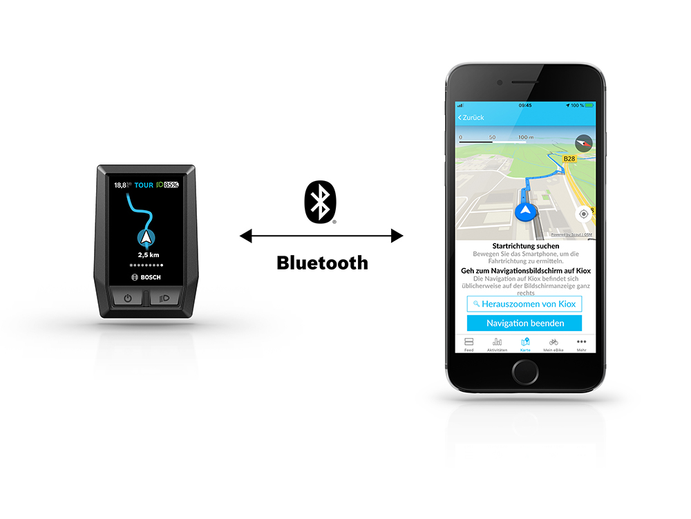 Bosch Verbindung Kiox Smartphone