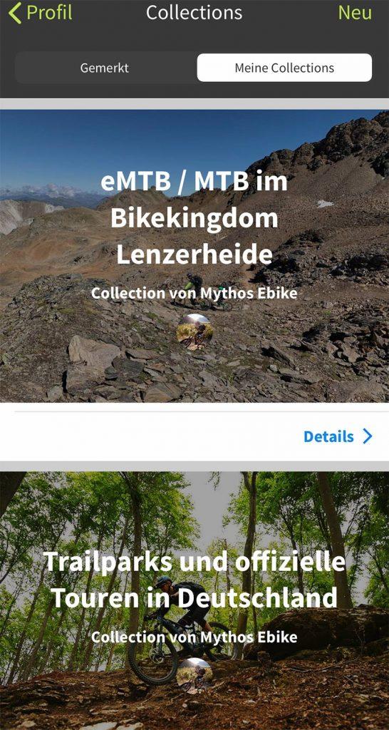 Komoot Collection Lenzerheide und Deutschland