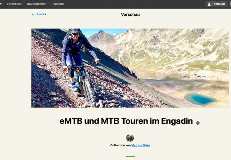 Komoot Collection Mythos ebike, Engadin