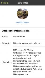 Profil Komoot Mythos-eBike
