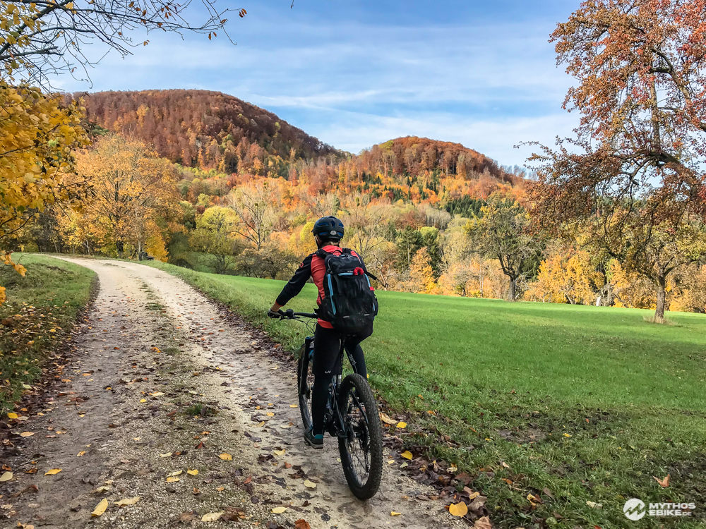 Alb-Crossing Herbstwald mit ebike