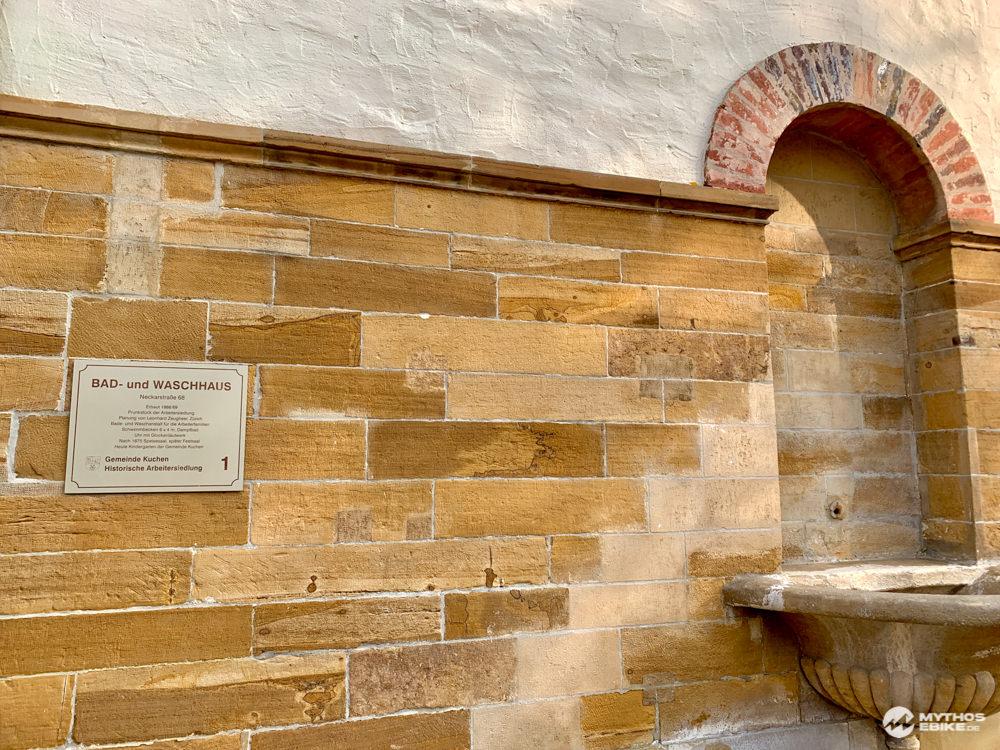Bad-und Waschhaus Kuchen Historische Arbeitersiedlung Albcrossing