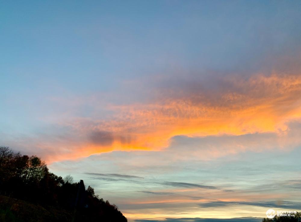 Sonnenuntergang Alb-Crossing