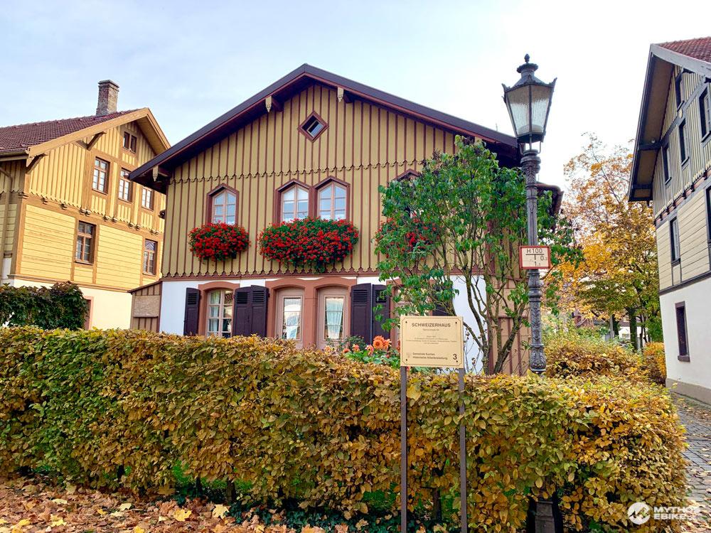 Schweizerhaus Kuchen Historische Arbeitersiedlung Albcrossing
