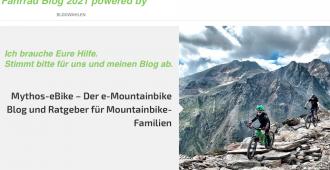 Wahl zum beliebtesten Fahrrad Blog 2021