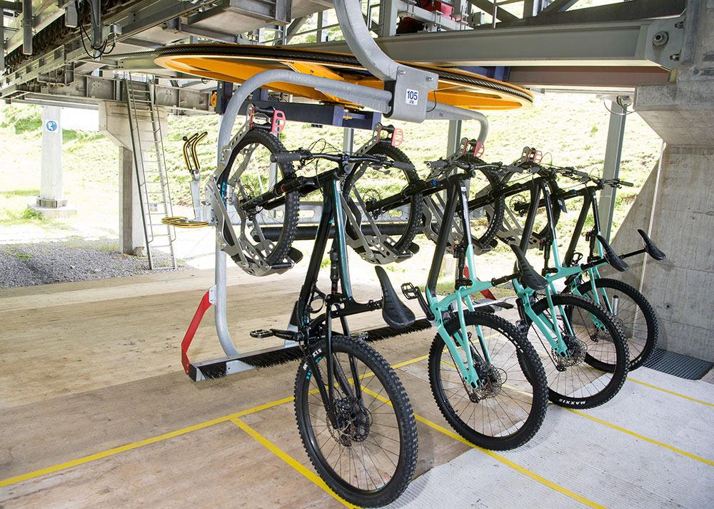 Eröffnung Sessellift Weisshorn Speed: Neue Bike Transportfahrzeuge