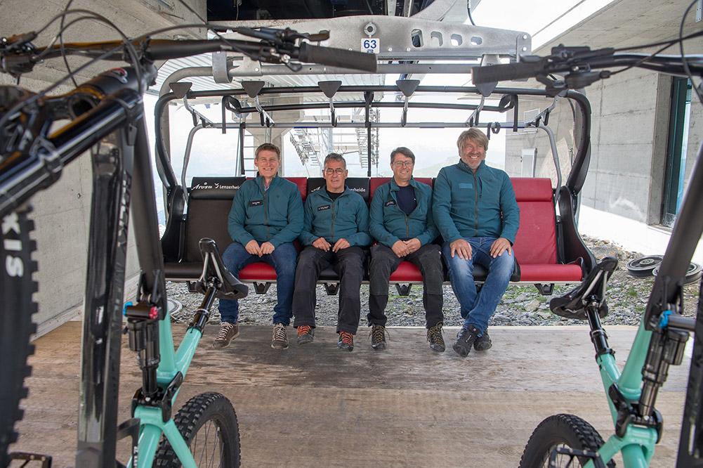 Eröffnung Weisshorn Speed Sessellift und Bikehalterung