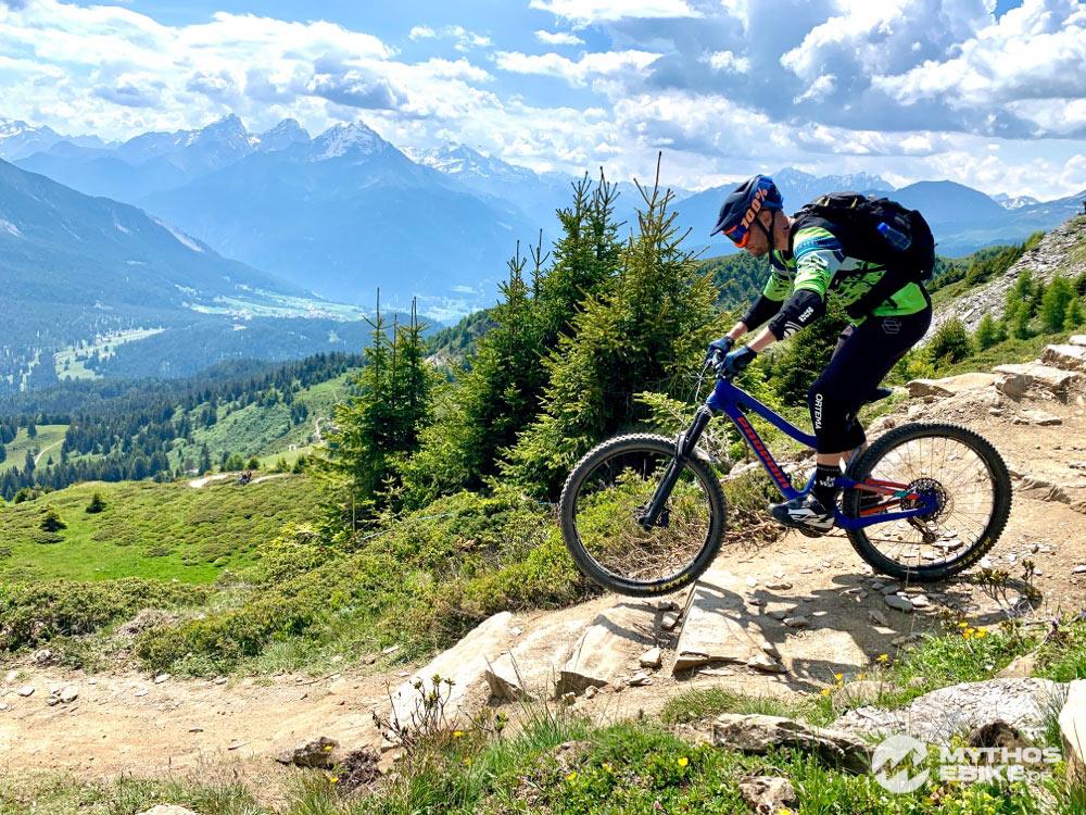 Mountainbiker auf dem Trail Top Fopps im Bikekingdom Lenzerheide