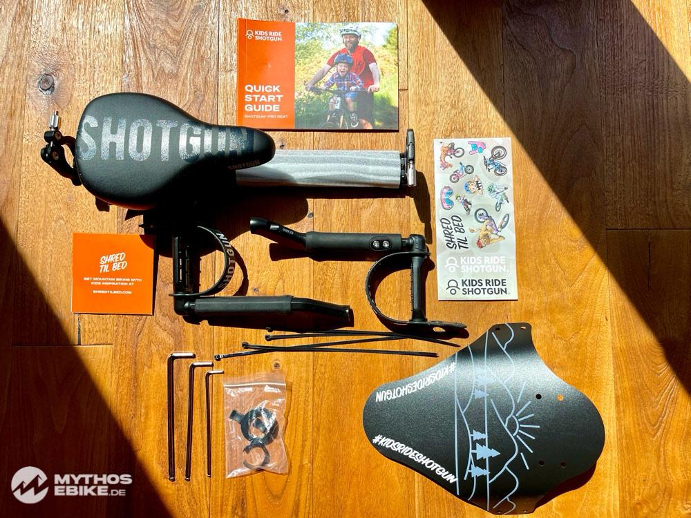 Kidsride Shotgun Pro Seat Lieferumfang