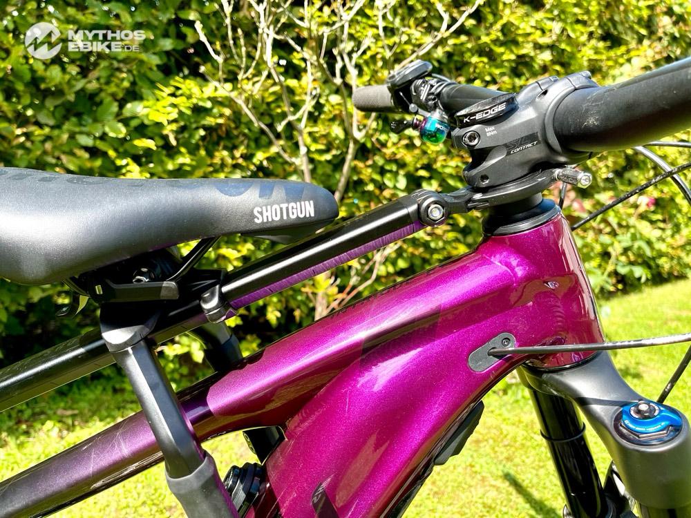 Shotgun Pro Seat ein Kindersitz am E-Bike montiert